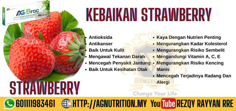 kebaikan strawberi